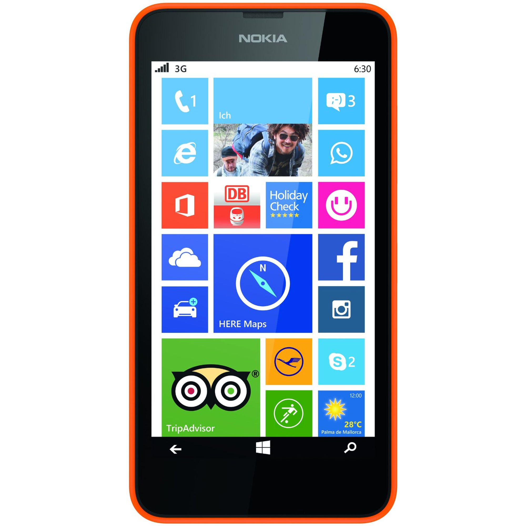 Nokia Lumia 630 Single SIM Smartphone orange