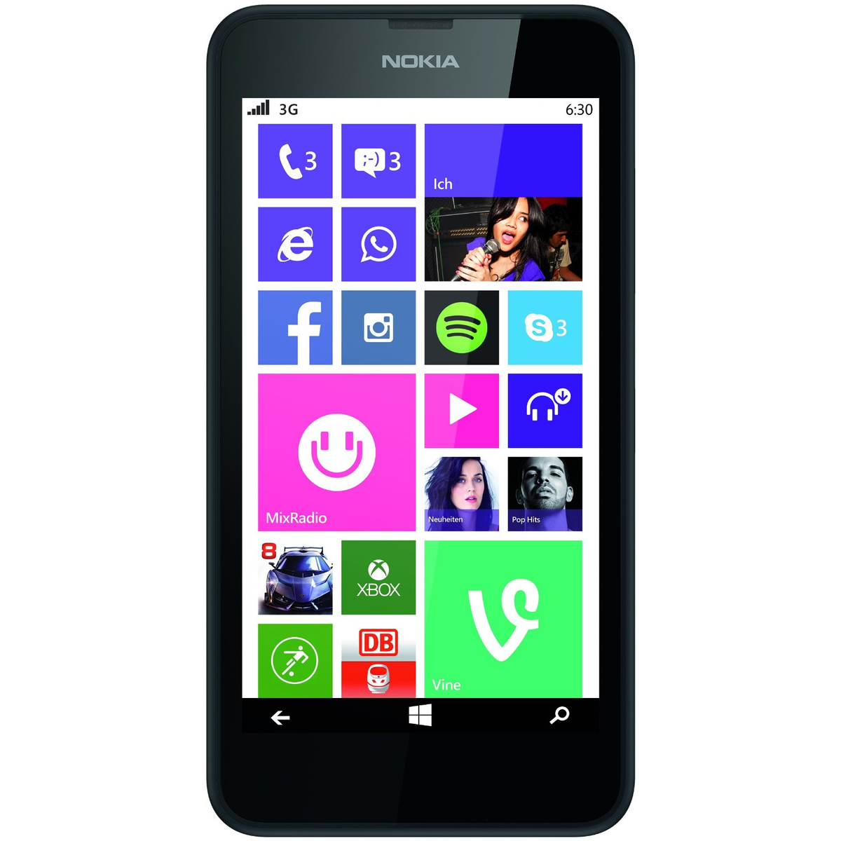 Nokia Lumia 630 Single-SIM Smartphone schwarz