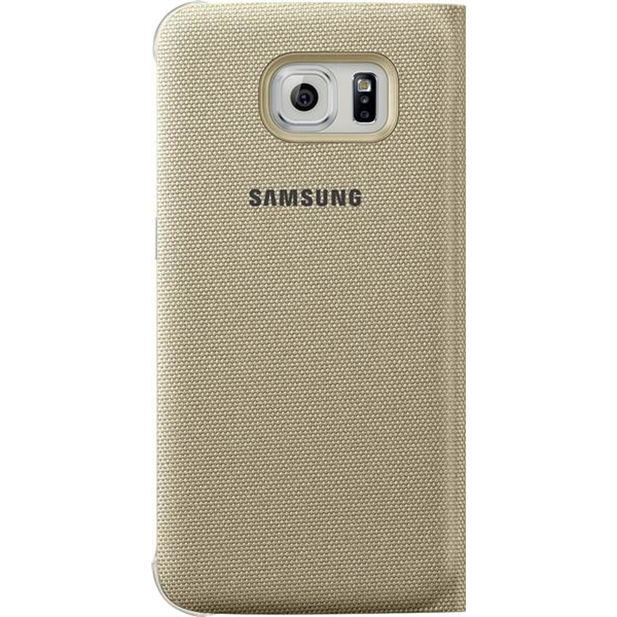 Samsung Flip Wallet Cover Textil Case Galaxy S6 Edge gold