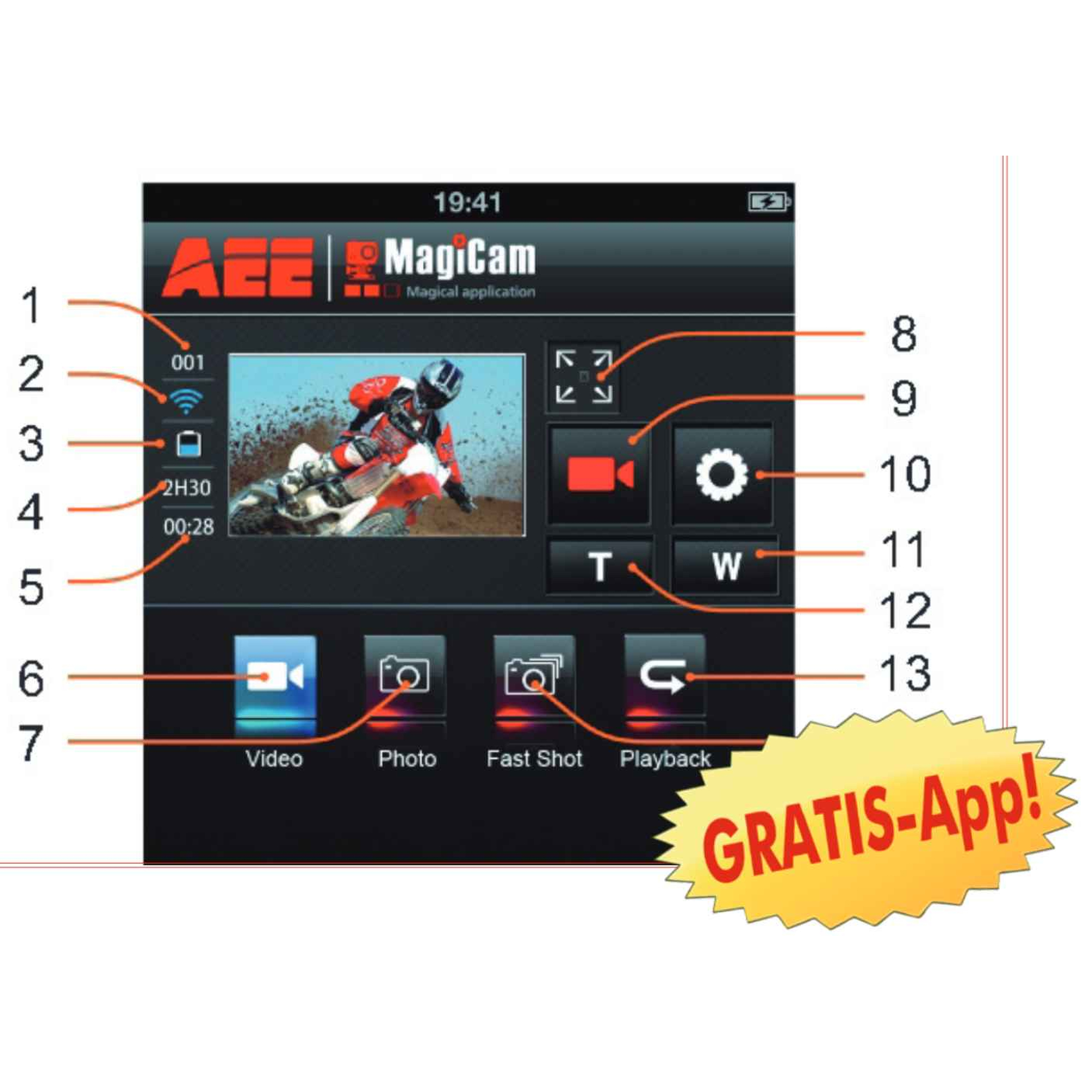 AEE ActionCam Magicam S71T Touch 4K UHD WLAN #wieneu