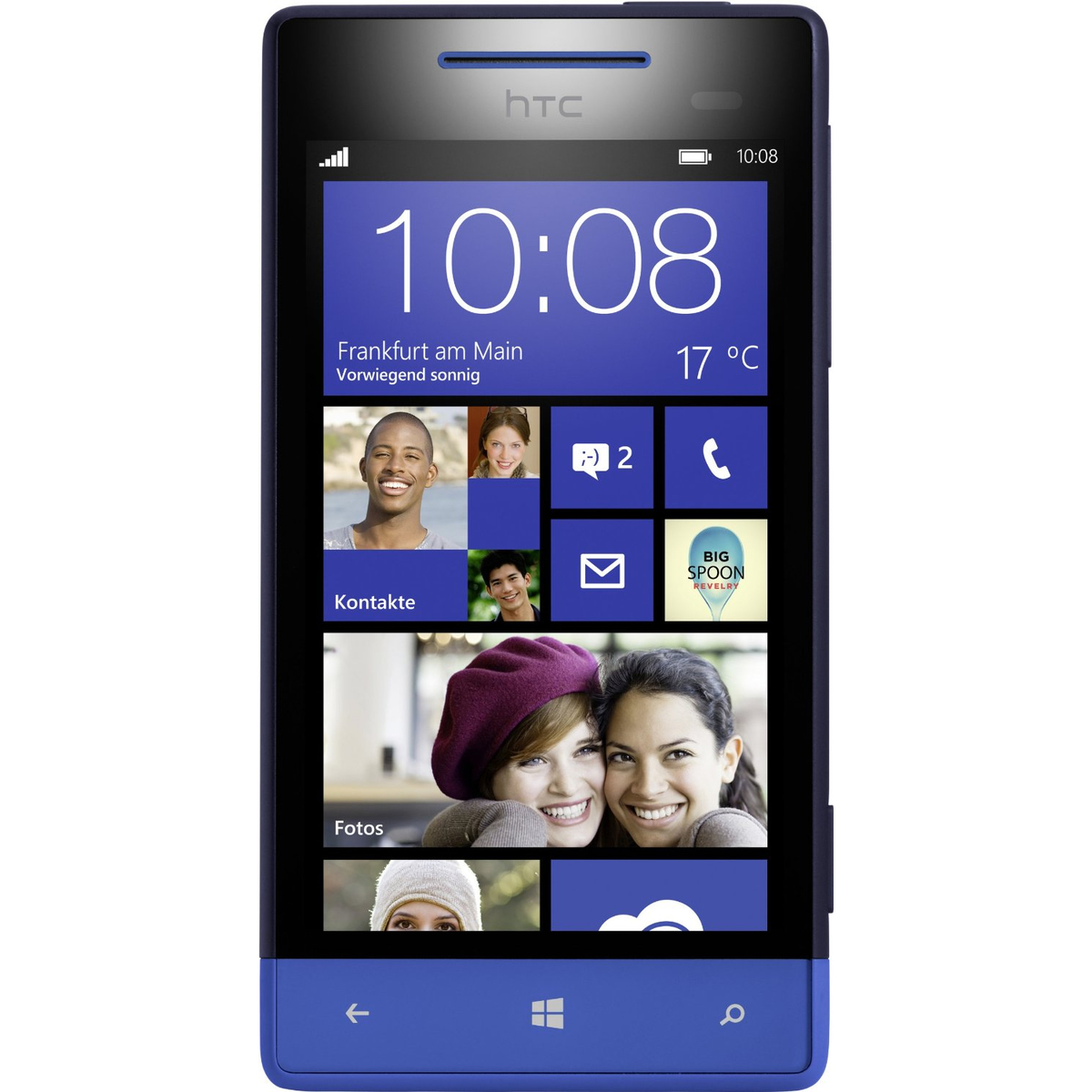 HTC Windows Phone 8S Smartphone blau