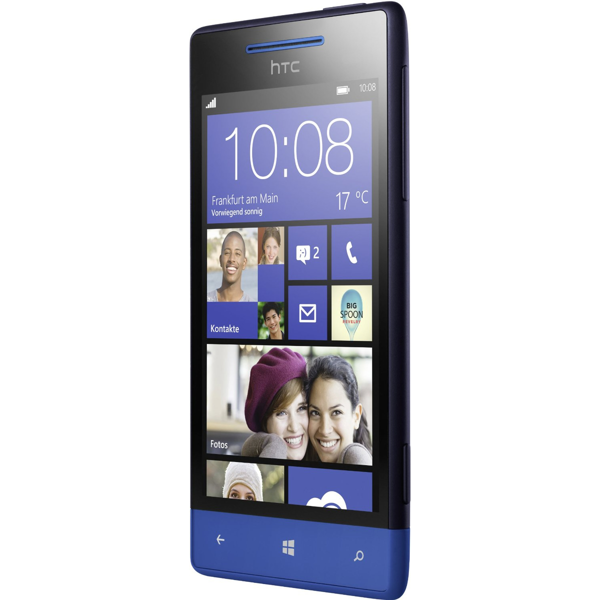 HTC Windows Phone 8S Smartphone blau #gut