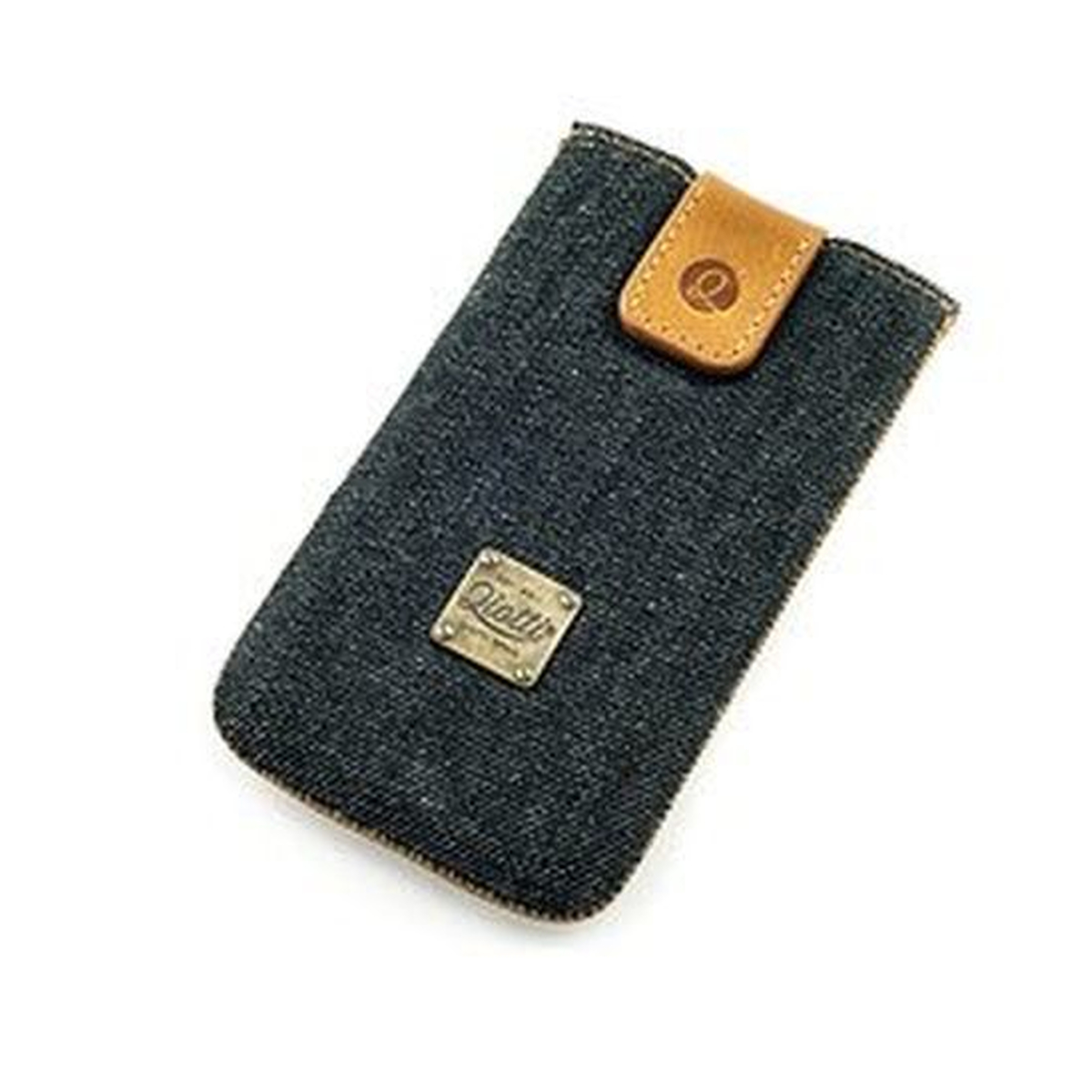 QIOTTI Raw Case für Apple iPhone 5/5S/5C Denim schwarz