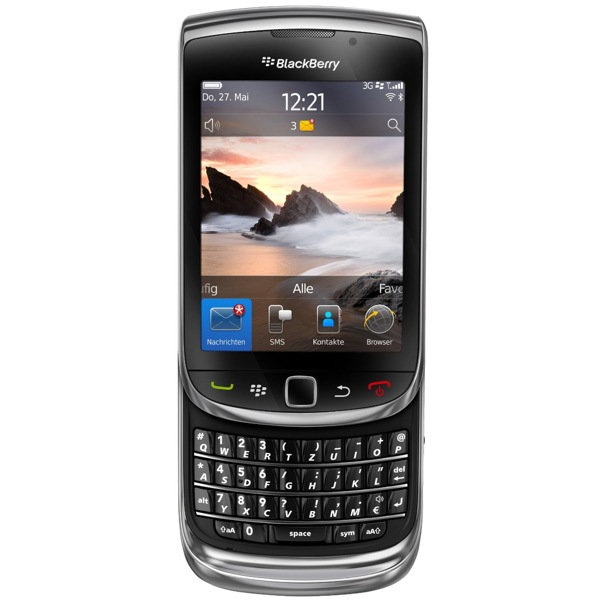 BlackBerry Torch 9800 Smartphone schwarz #gut