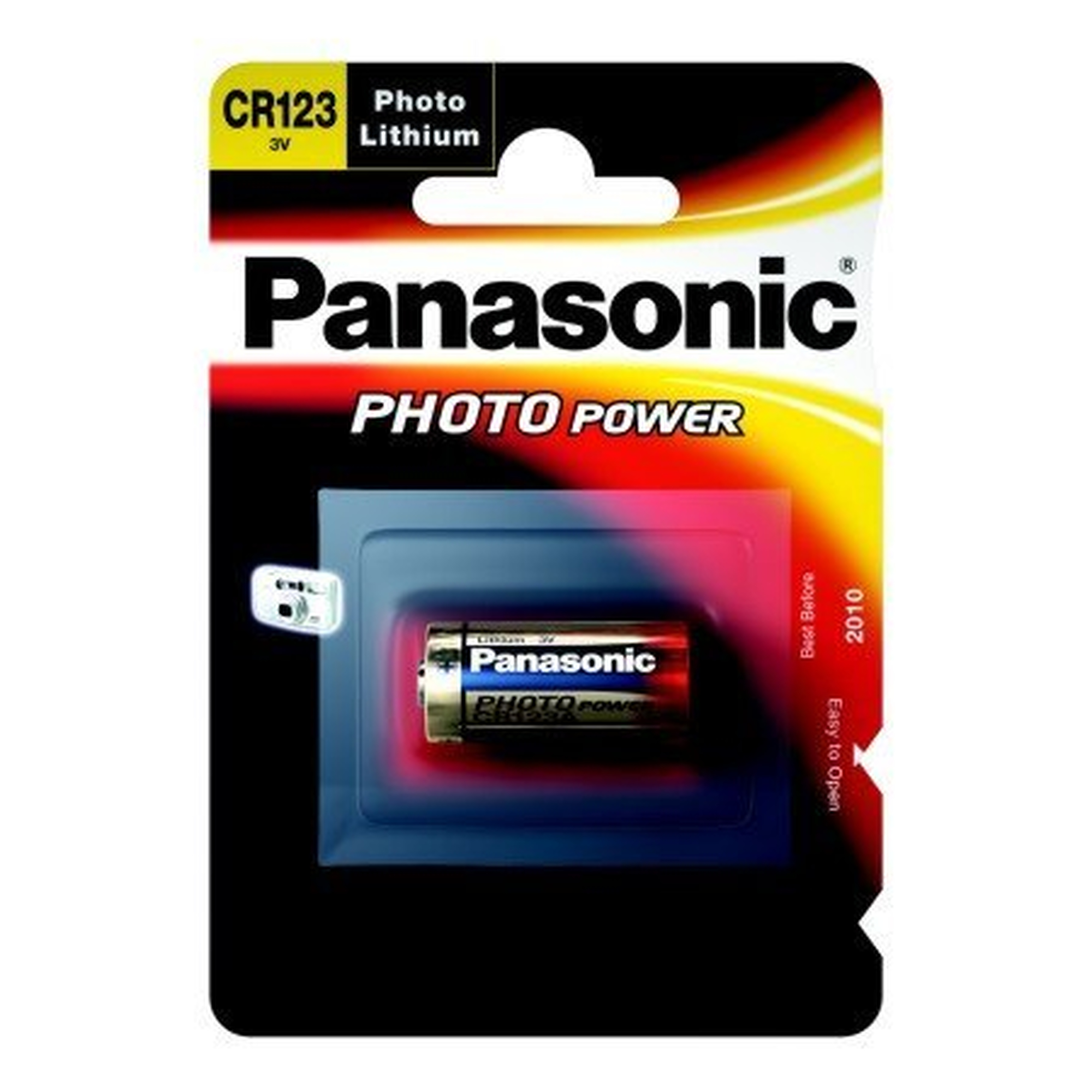 Panasonic Foto Batterie Lithium CR123A,1600 mAh,3V