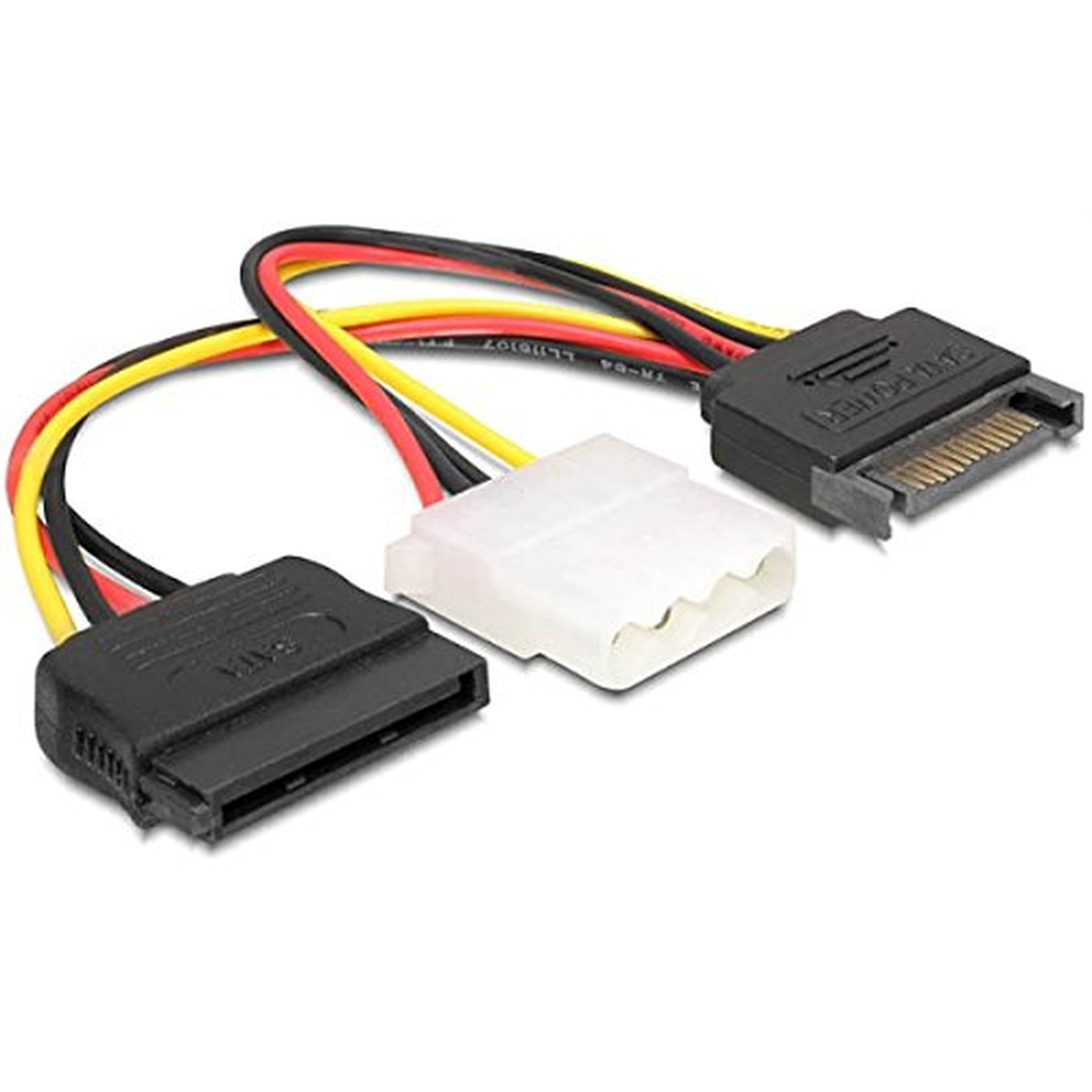 DeLOCK Kabel Power SATA 15pin>4pin+SATA 15pin