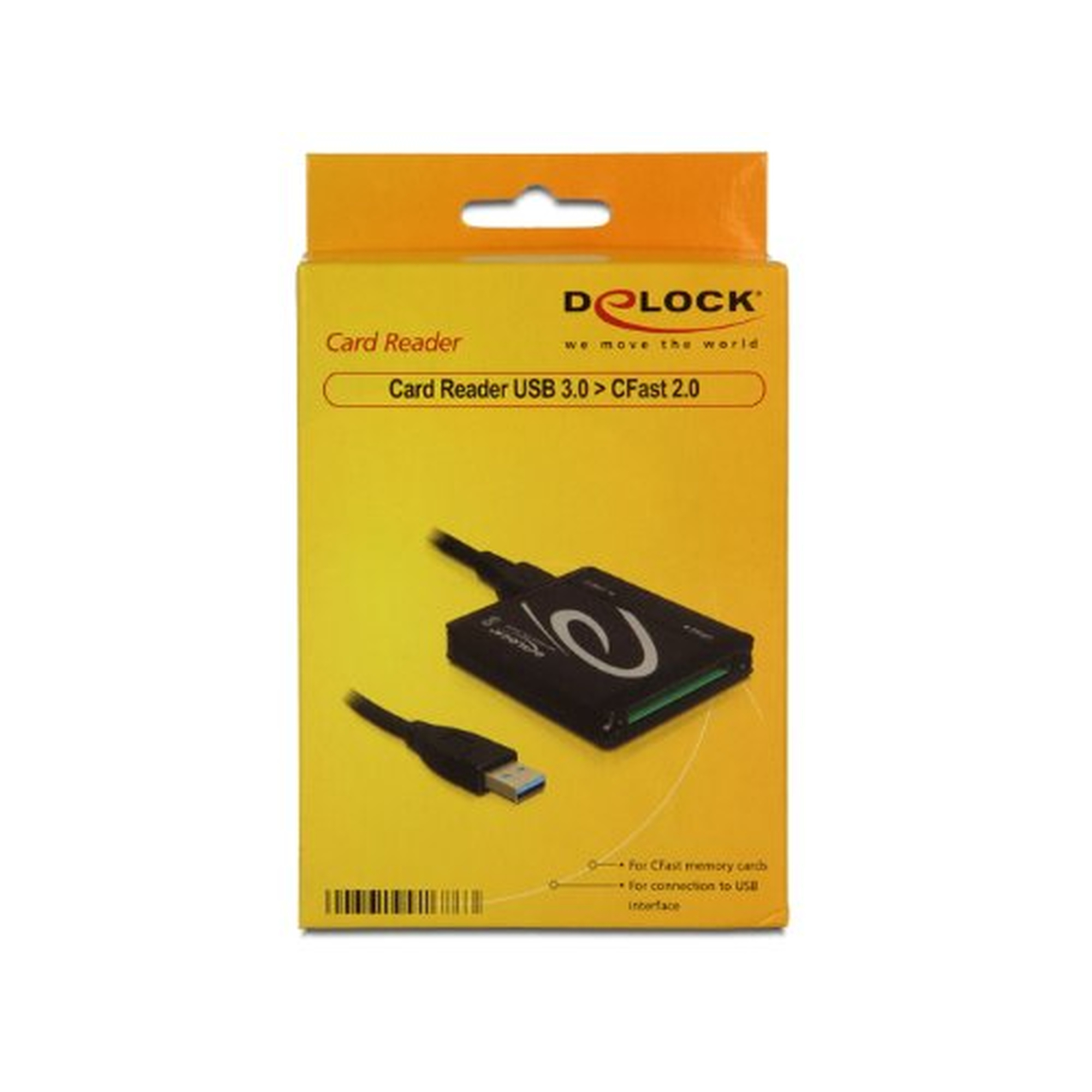 DeLOCK Card Reader USB3.0 zu CFAST extern