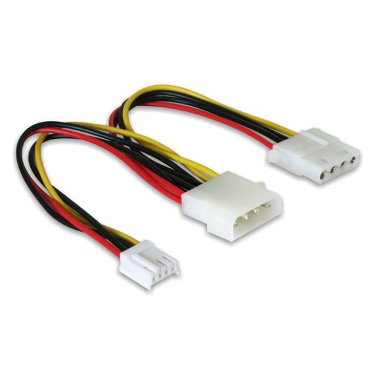 DeLOCK Y-Kabel Power Molex 4pin Stecker > Molex 4pin Buchse