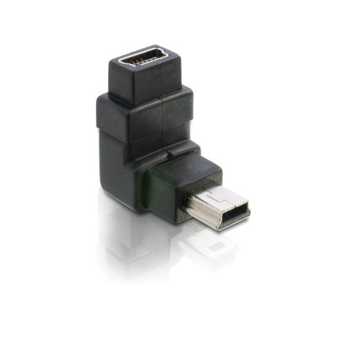 DeLOCK Adapter USB-B mini 5pin Stecker Buchse 90°