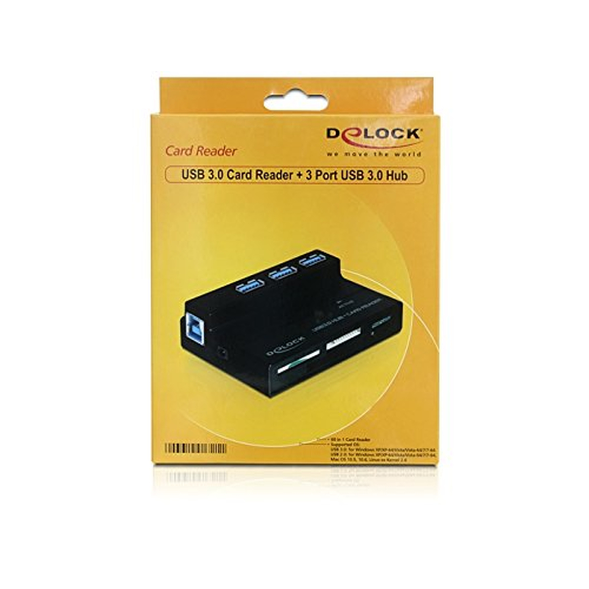 DeLOCK USB 3.0 Card Reader All in 1 + 3 Port USB 3.0 HUB