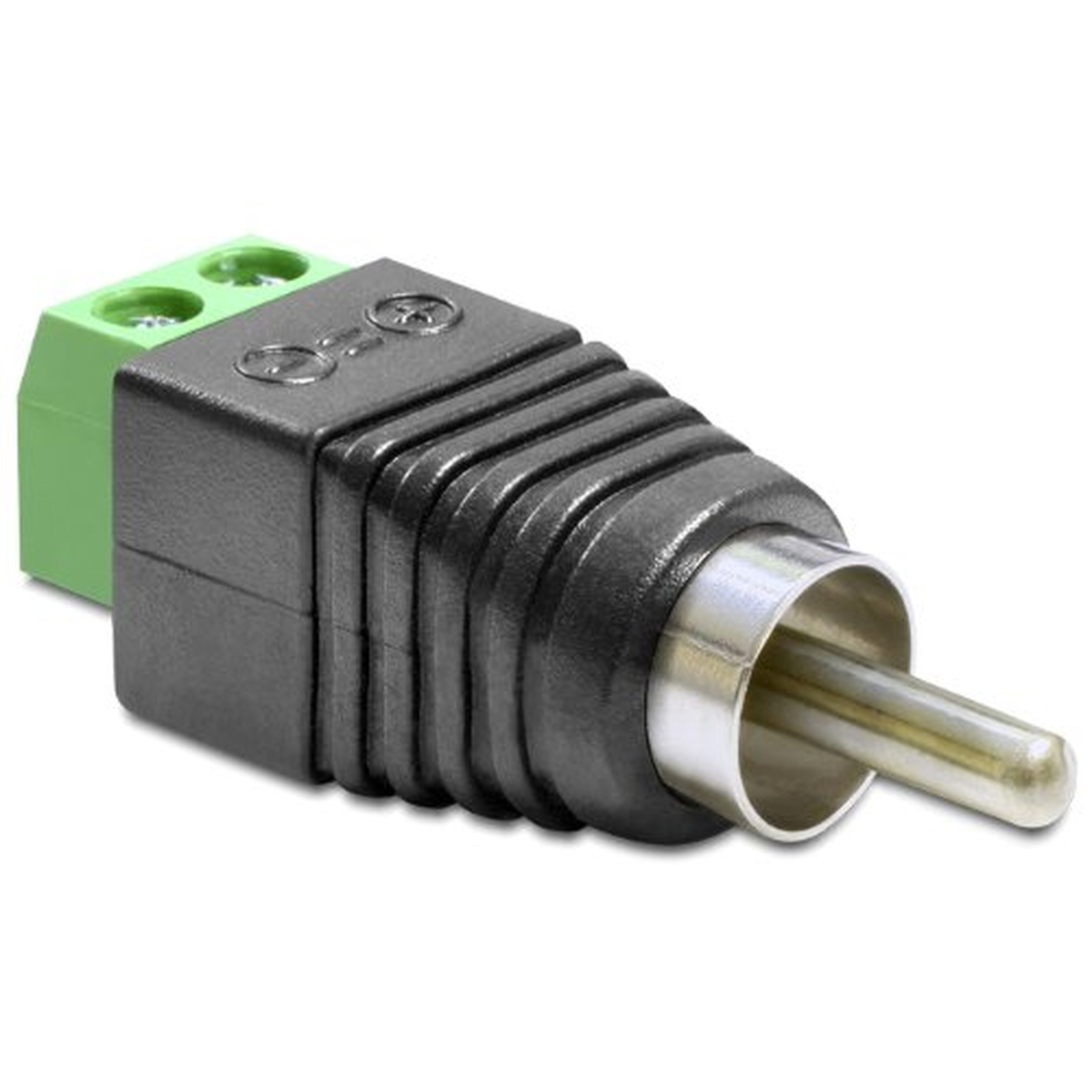 DeLOCK Adapter Cinch Stecker > Terminalblock 2 Pin