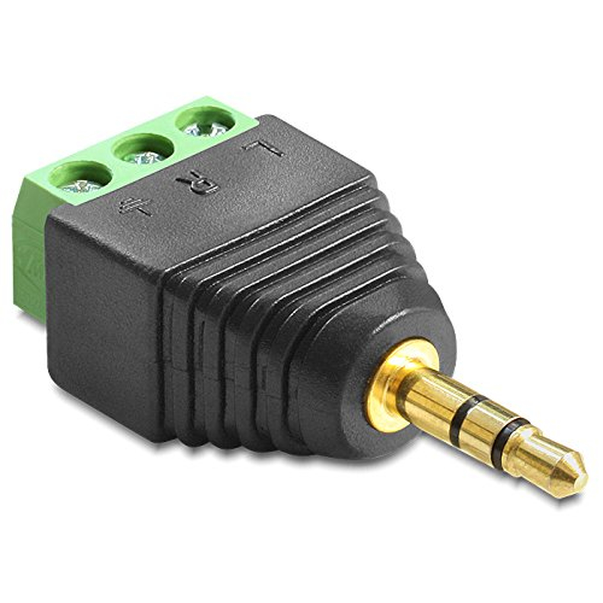 DeLOCK Adapter Klinke Stecker 3,5 mm > Terminalblock 3 Pin