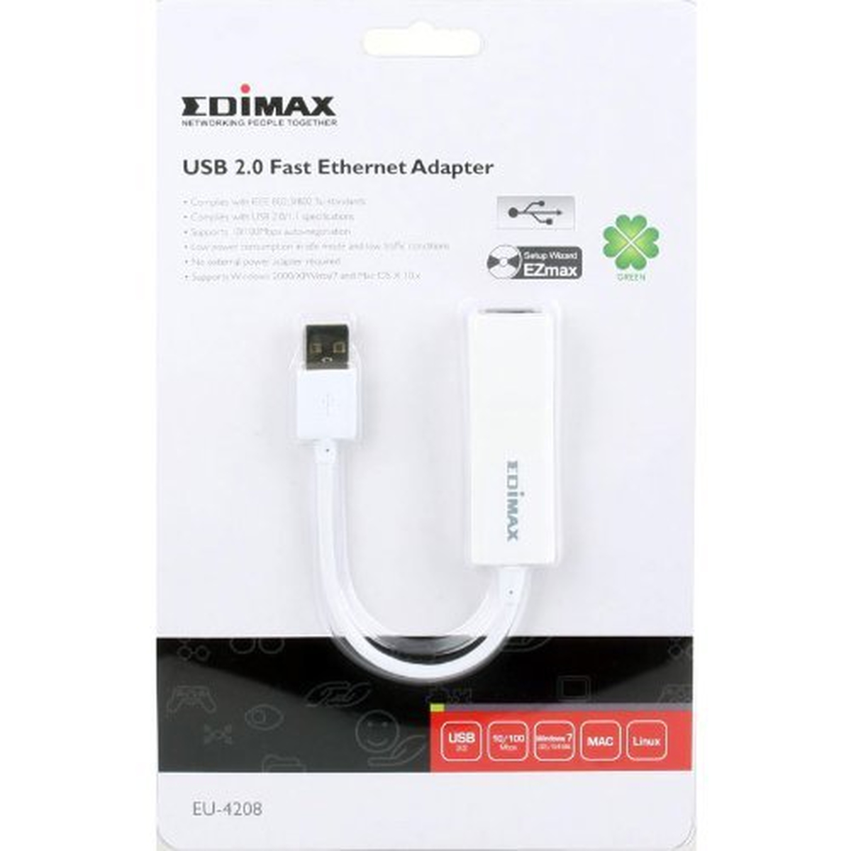 Edimax EU-4208 USB 2.0 Fast-Ethernet-Adapter