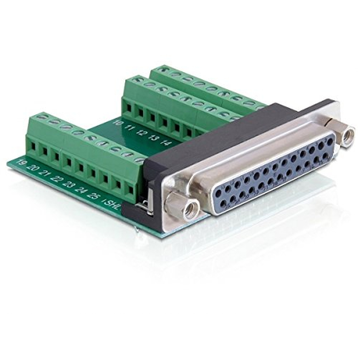 DeLOCK Adapter Sub-D 25 Pin Buchse > Terminalblock
