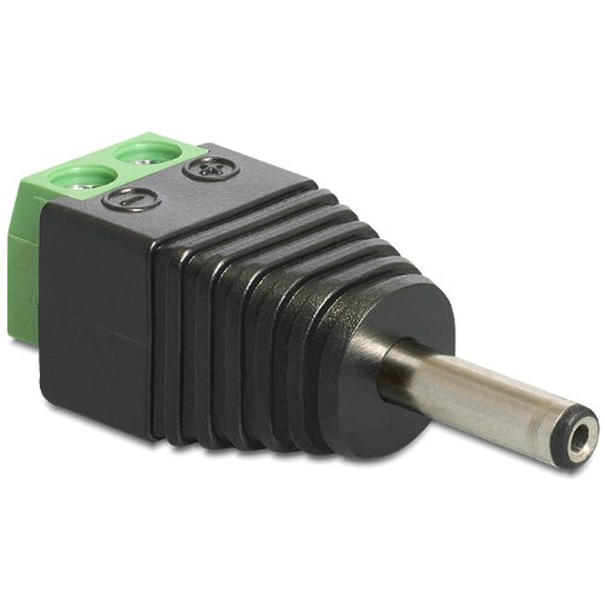 DeLOCK Adapter DC 1,3 x 3,5 mm Stecker > Terminalblock 2 Pin