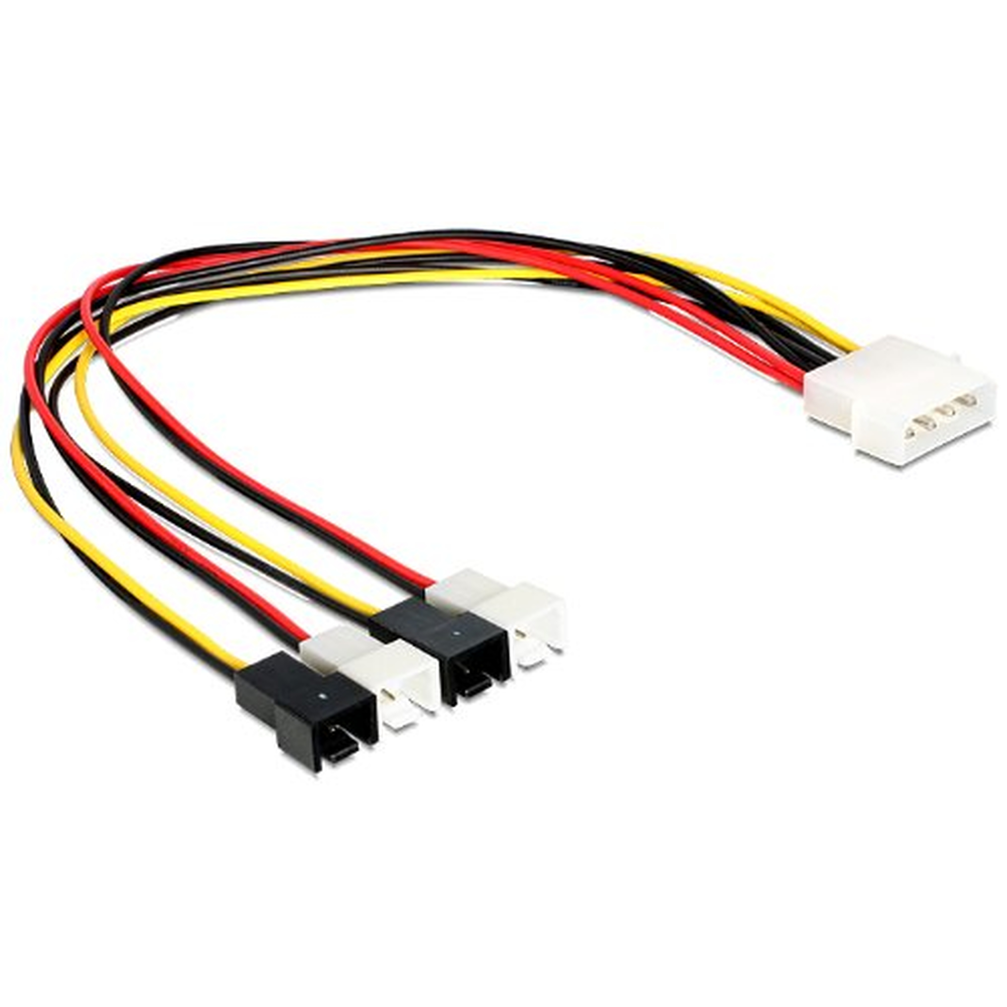 DeLOCK Kabel Power Molex 4pin ST > 4x 2pin St Lüfter