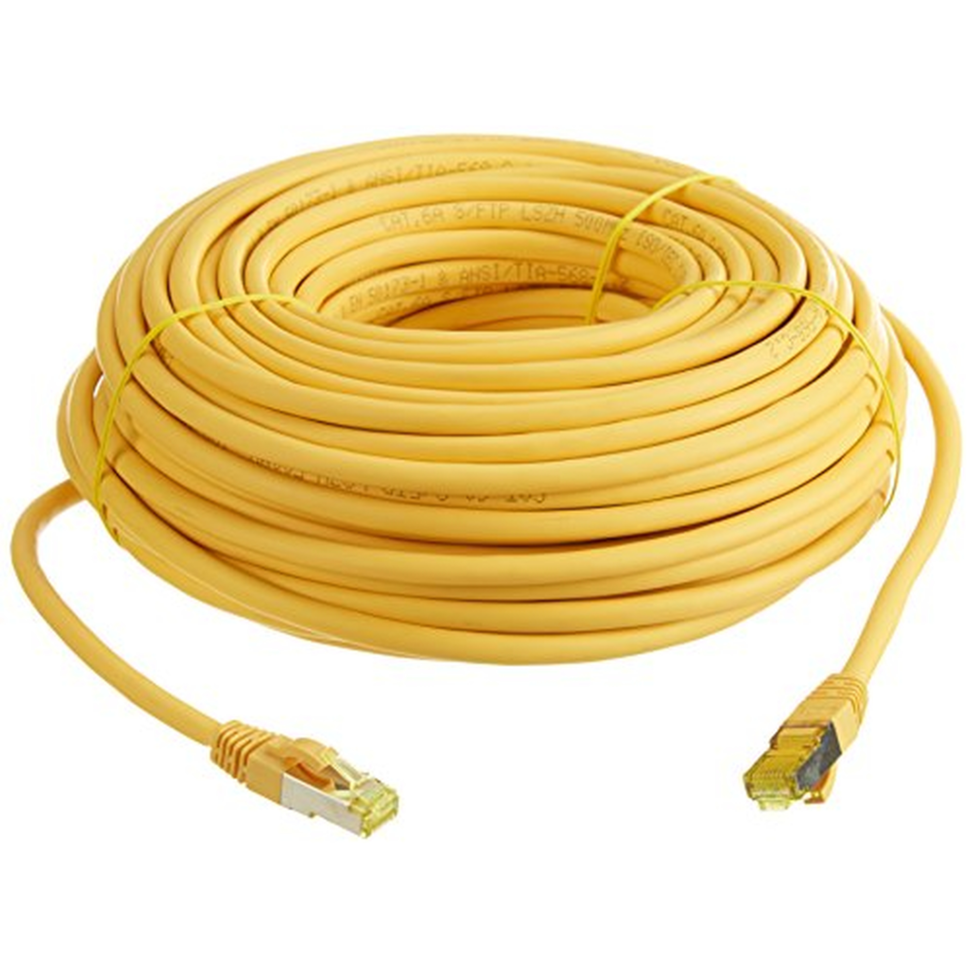 helos Patchkabel S/FTP (PIMF) CAT 6a gelb 30m