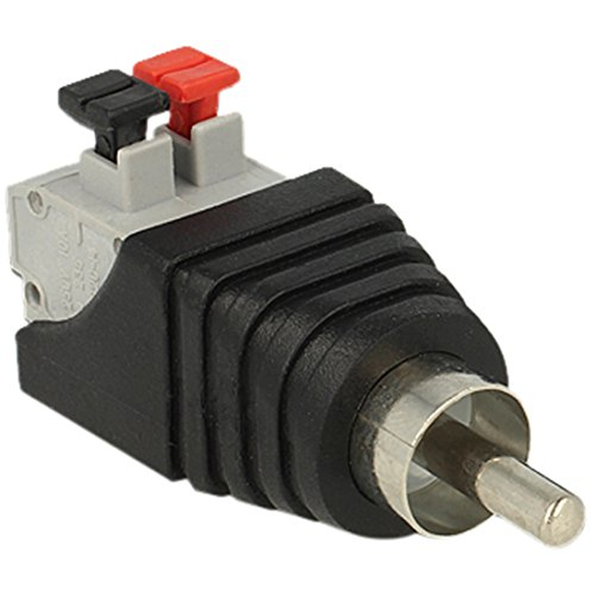 DeLOCK Adapter Terminalblock mit Drucktaste > Cinch Stecker