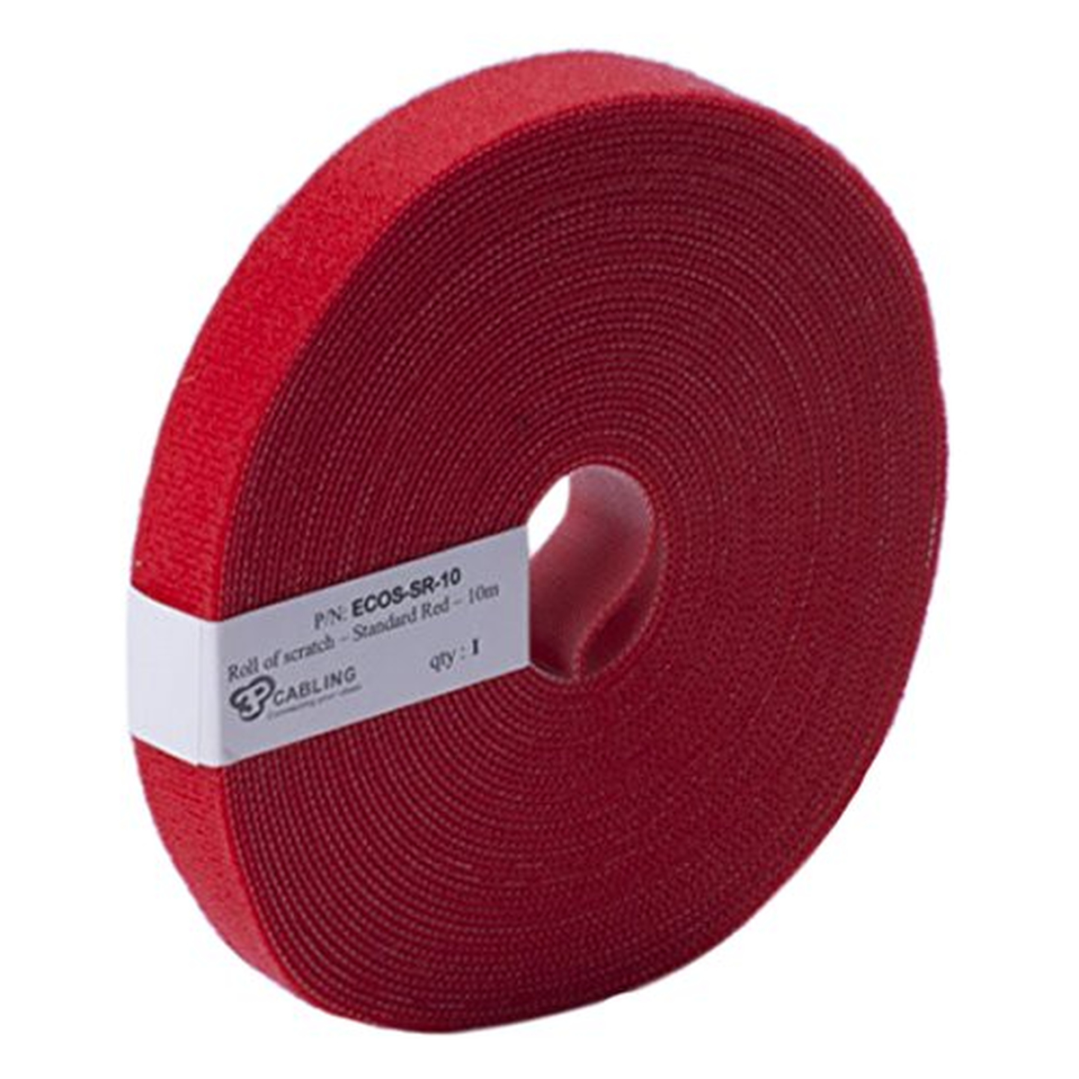 Patchsee Eco-Scratch, Kabelbinder, 10m lang,19mm breit, rot