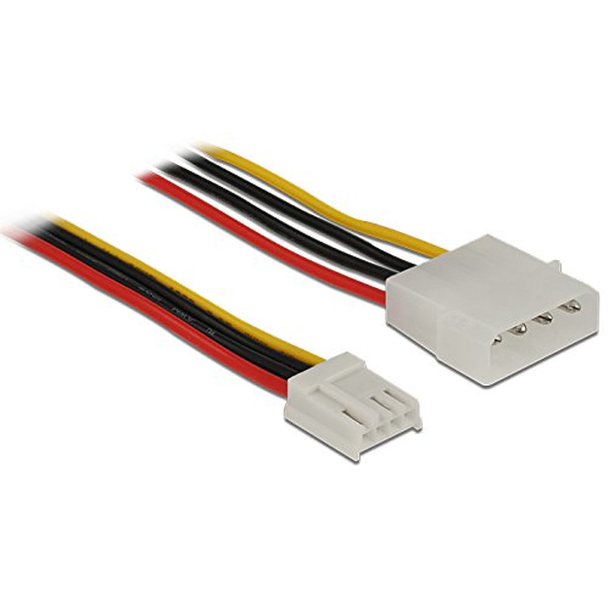 DeLOCK Kabel Power Molex 4 Pin Stecker > Floppy 4 Pin Buchse