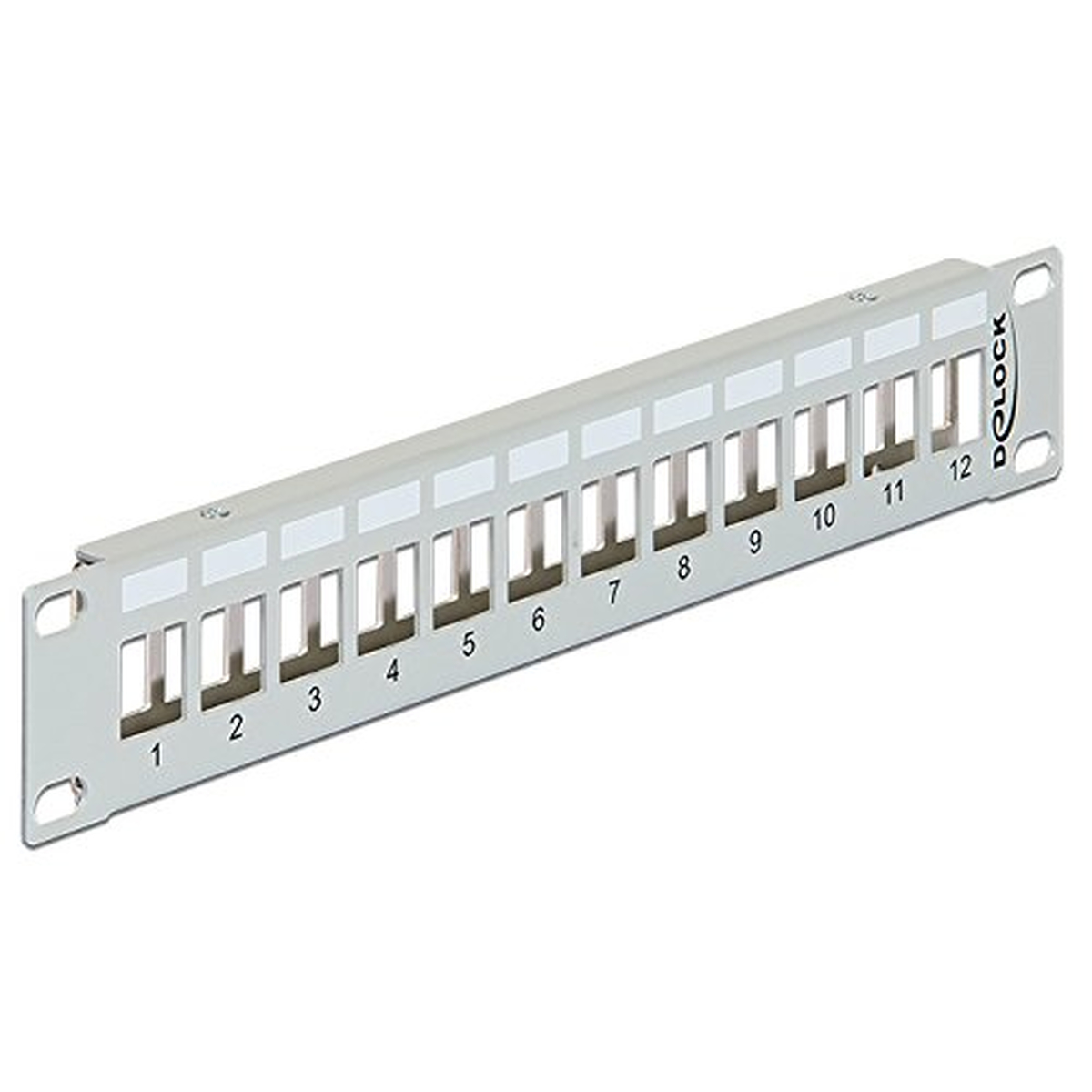 DeLOCK Keystone 10 Patchpanel 12 Port Metall grau