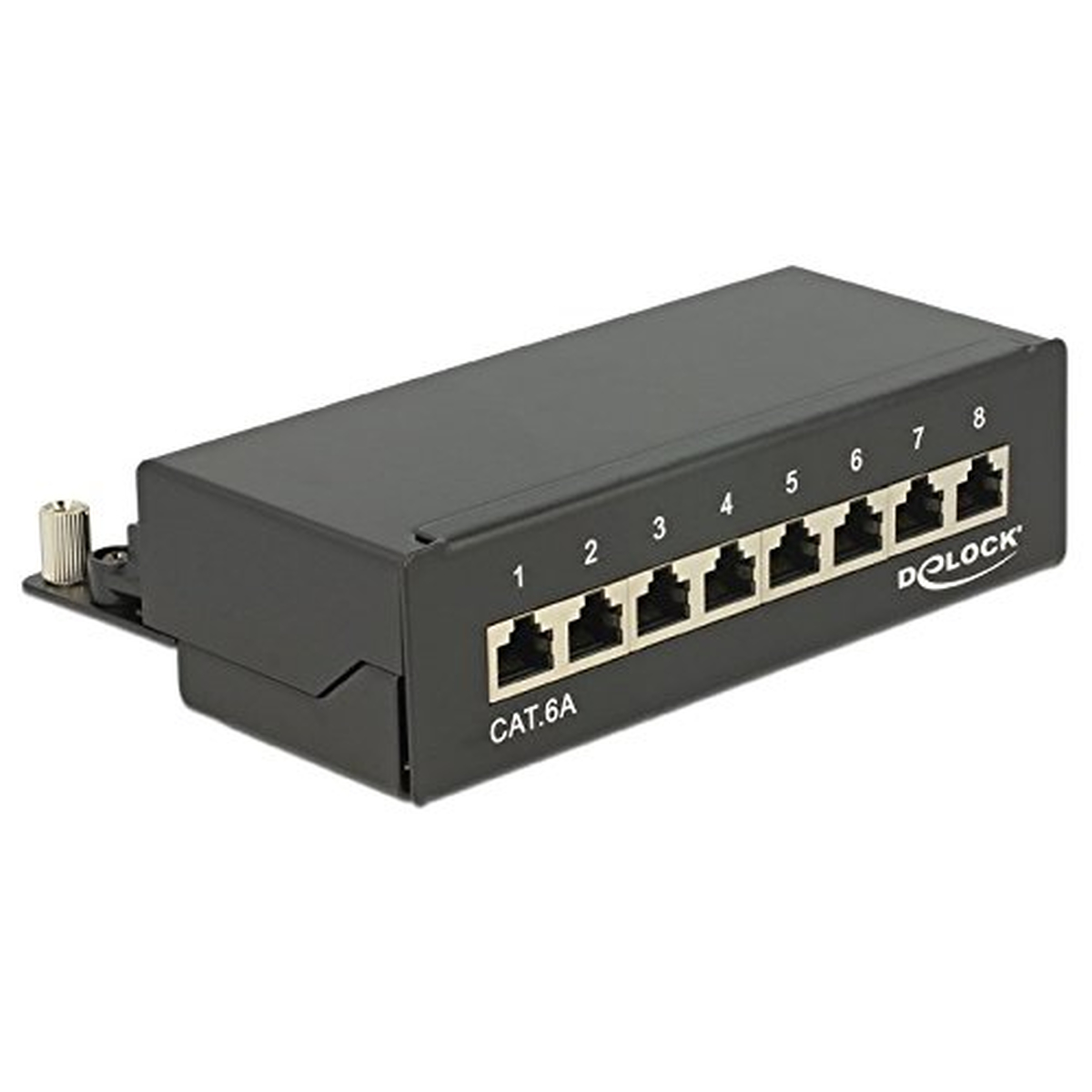 DeLOCK Patchpanel Desktop 8 Port Cat.6A schwarz