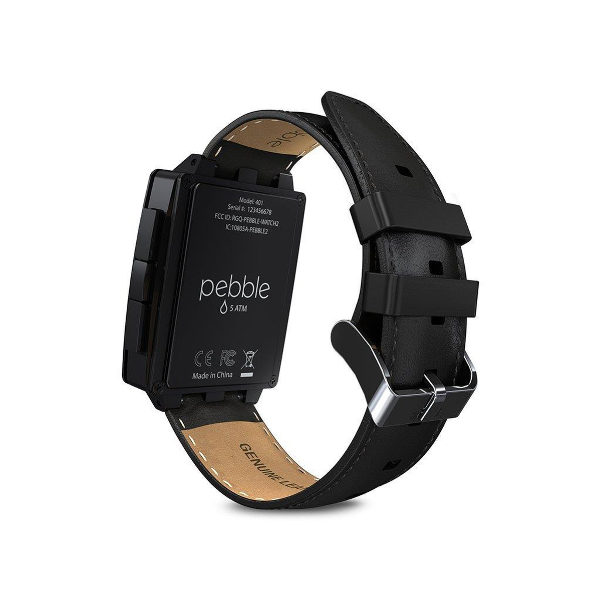 Pebble Steel Smartwatch für Apple und Android 401BLR matt...