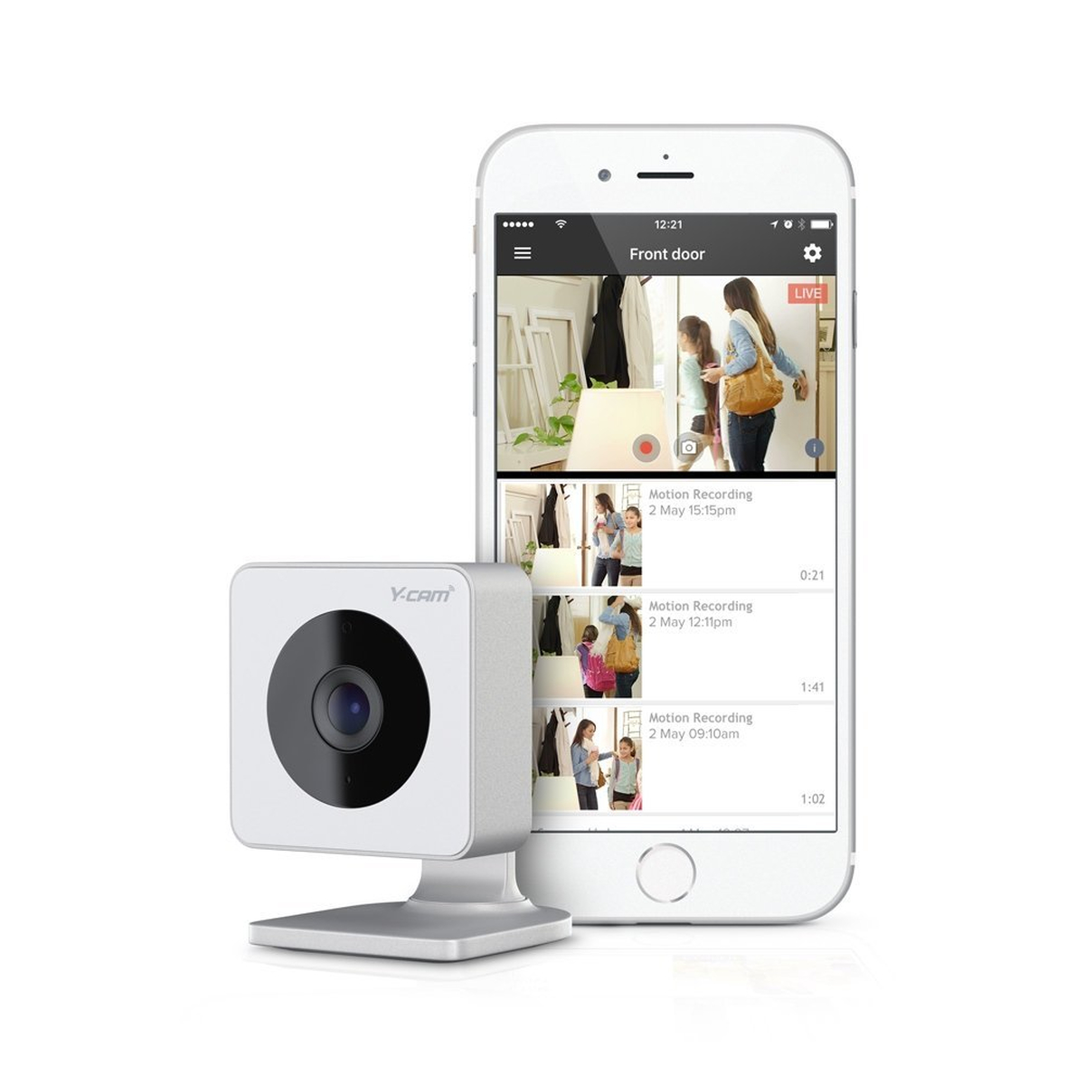 Y-CAM Evo Indoor HD WiFi Security HomeMonitor Free Cloud
