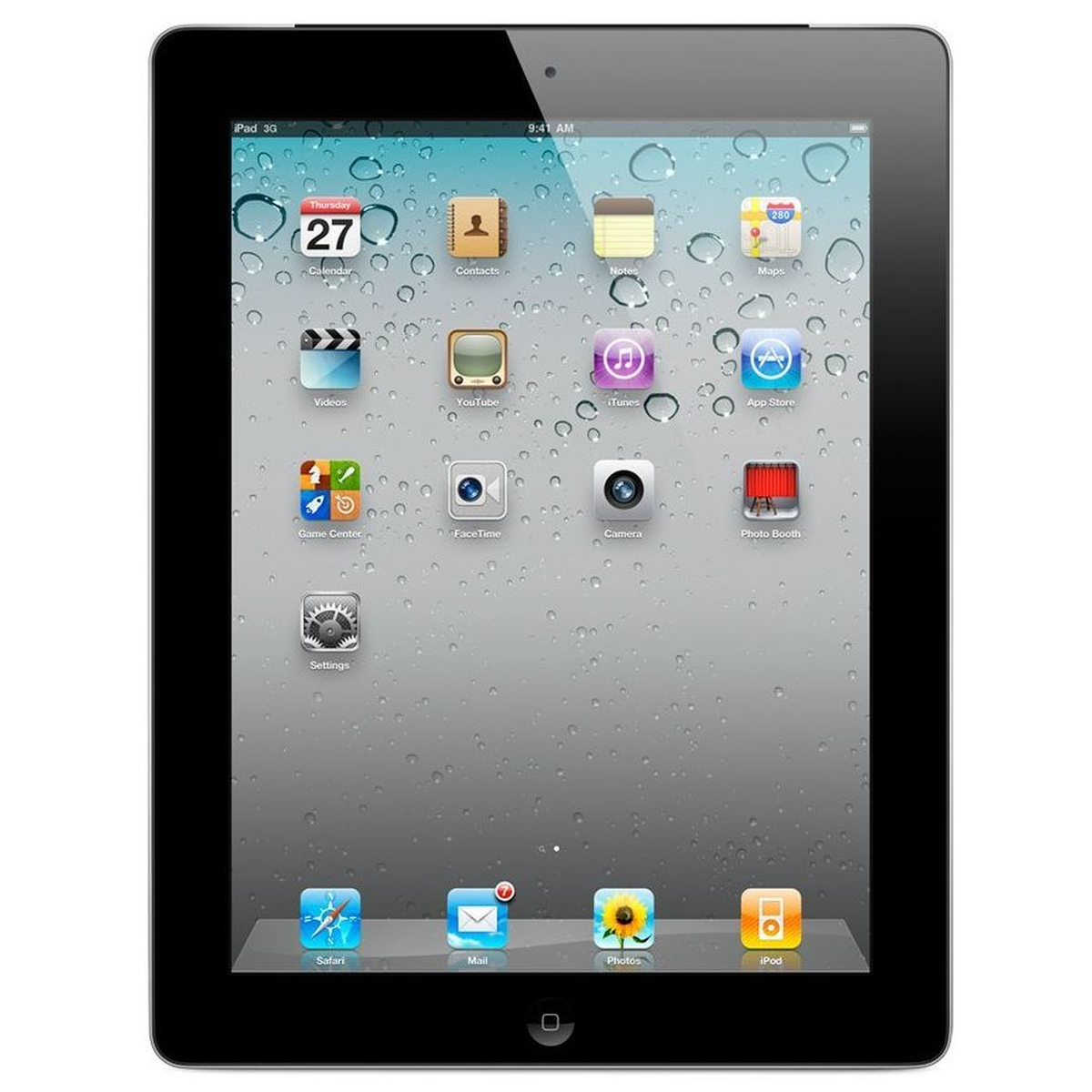 Apple iPad 2 MC774FD/A Tablet-PC 3G Wifi 32GB schwarz #gut