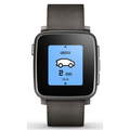 Pebble Time Steel Smart Watch für Android und iOS schwarz
