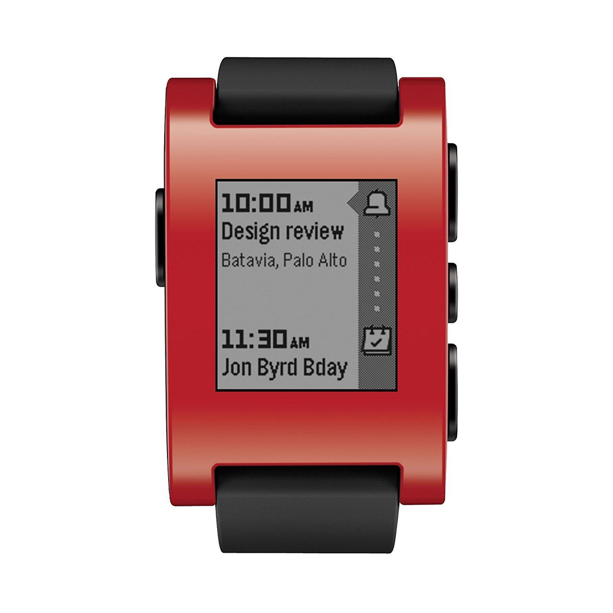 Pebble Smartwatch für Apple und Android 301RD rot