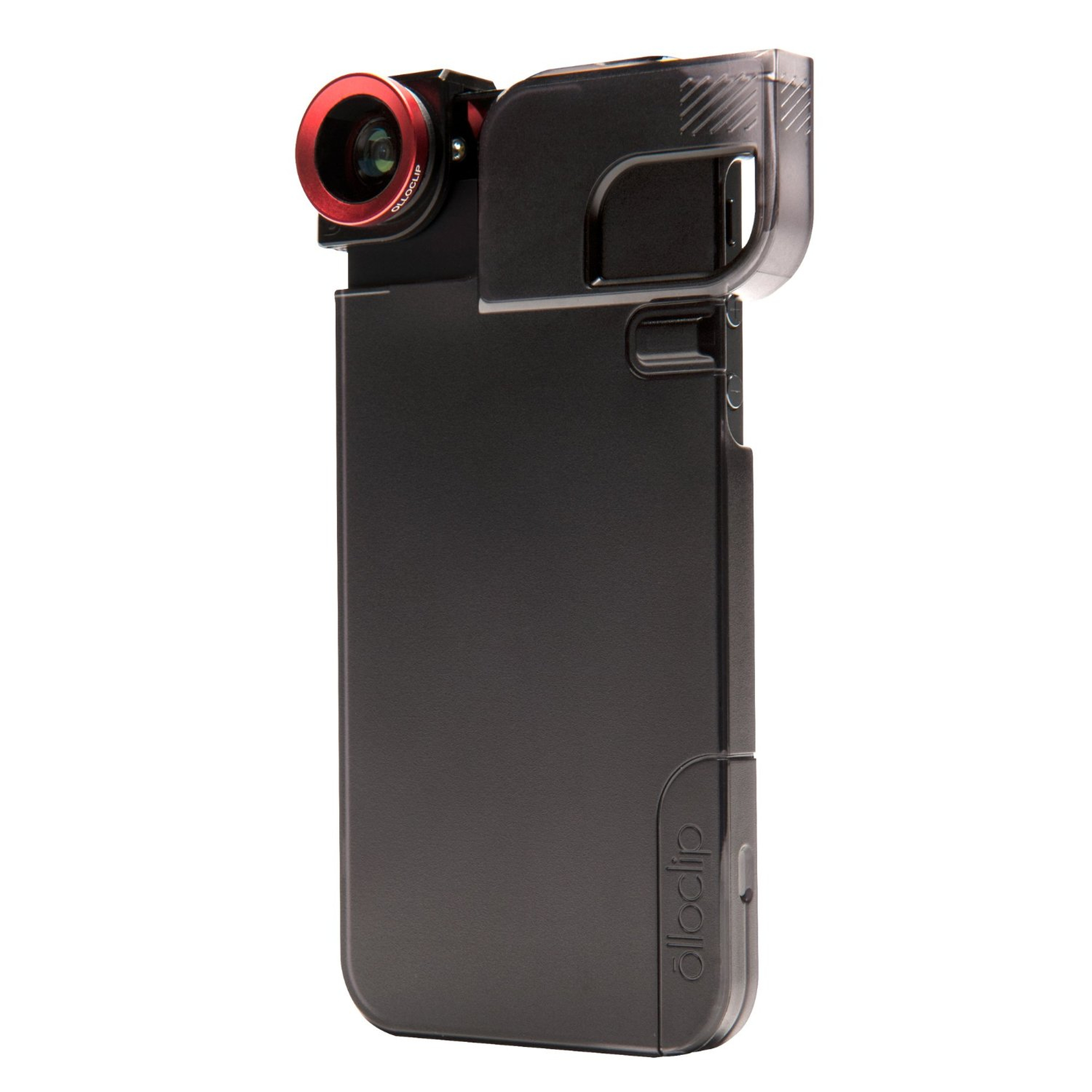 Olloclip 3-in-1 Set Hülle für Apple iPhone 5/5S inkl. rote Linse schwarz