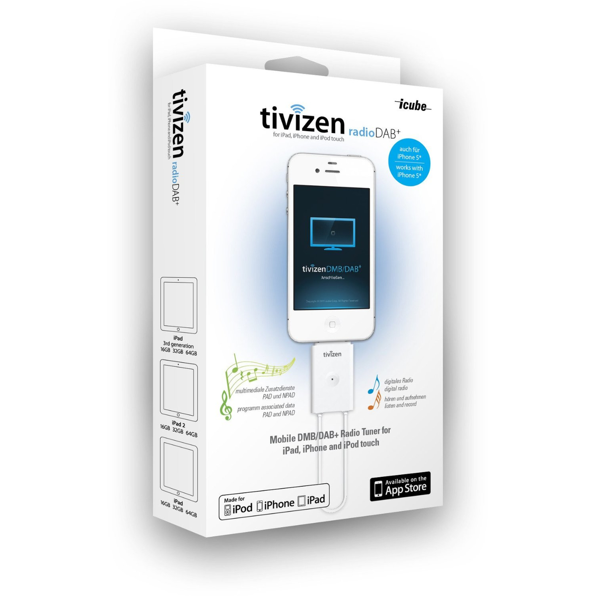 Tivizen Radio DAB+ für Apple iPod/iPhone/iPad