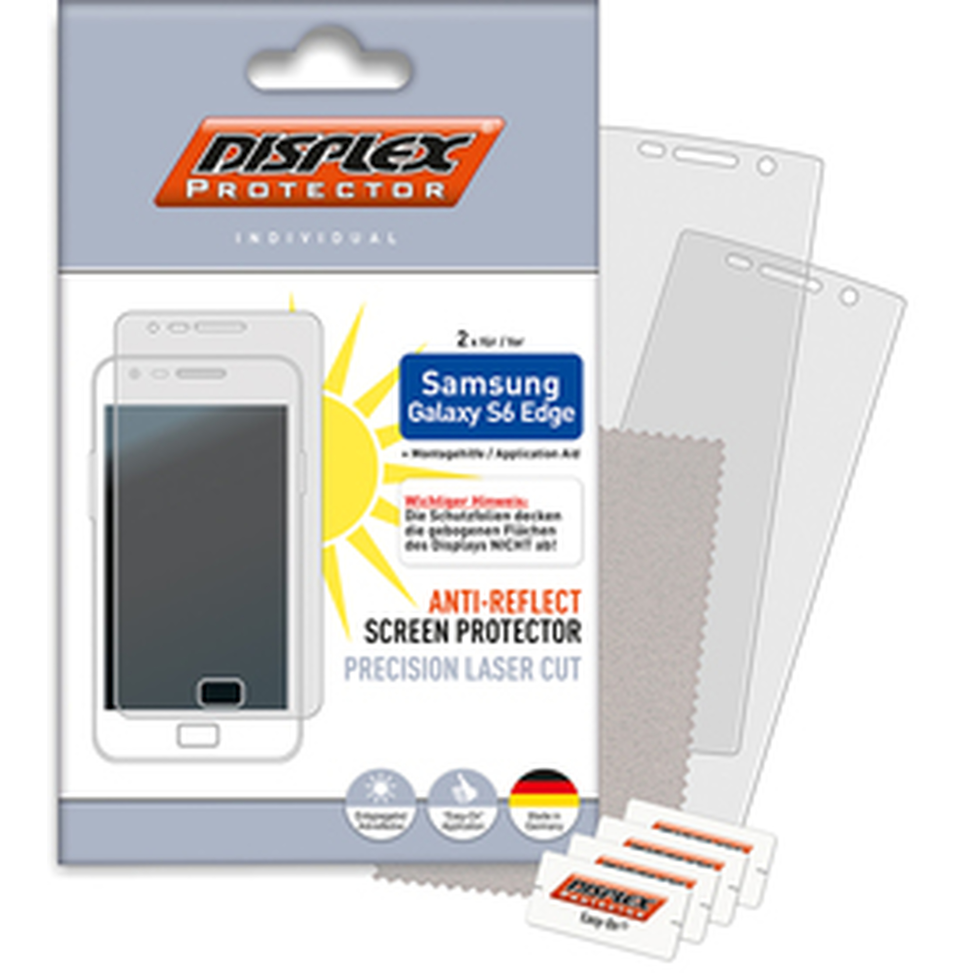 Displex Protector Anti Reflect (2 Stk) für Galaxy S6 Edge