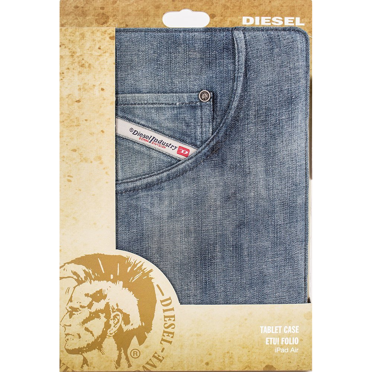 Diesel iPad Air Paddy Stand Booklet Case in Indigo blau