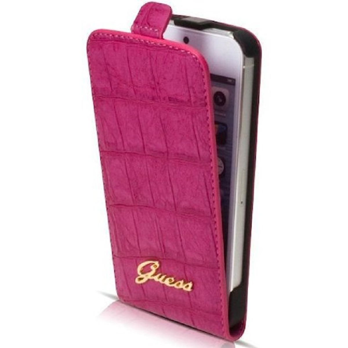Guess Flapcase iPhone 5/5S croco/pink