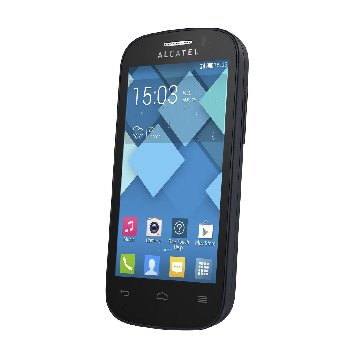 Alcatel One Touch Pop C3 4033D Smartphone bluish black
